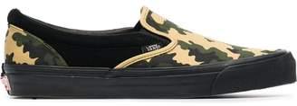 Vans camo slip-on canvas sneakers