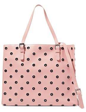 RED Valentino Eyelet-Embellished Leather Tote