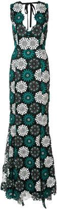 Zac Posen April floral crochet gown