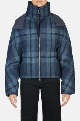 J.W.Anderson Cropped Puffer Jacket - Ocean