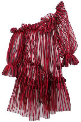 Isa Arfen asymmettric ruffle blouse