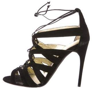 Tom Ford Suede Cage Sandals