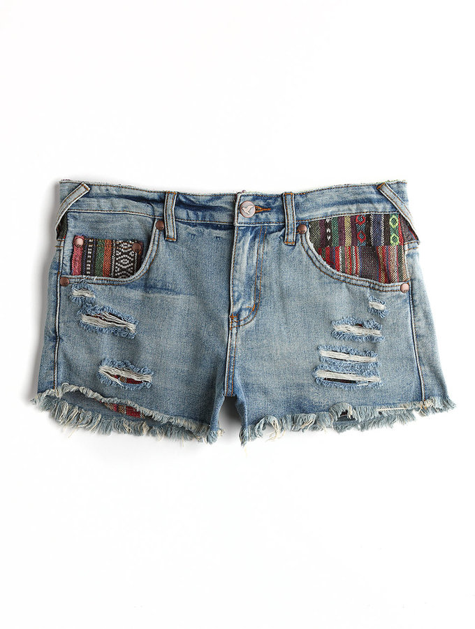 Free People Cut-Off Denim Shorts