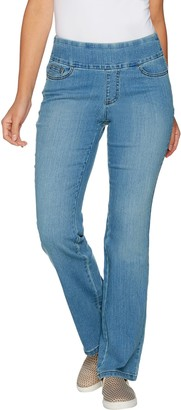 Denim & Co. Perfect Denim Tall Smooth Waist Lightly Bootcut Jeans
