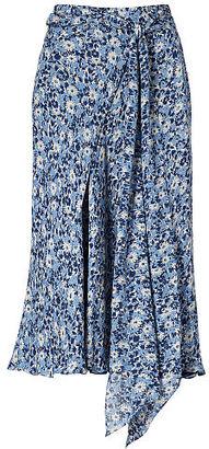 Polo Ralph Lauren Floral Silk A-Line Skirt $298 thestylecure.com