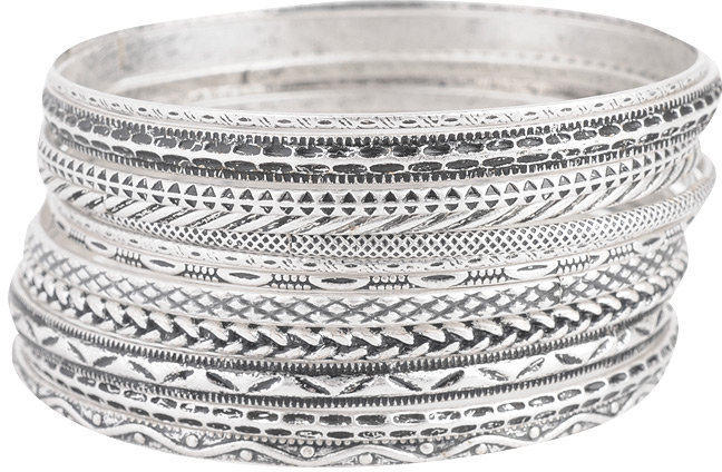 Athena Metal Bangle Set