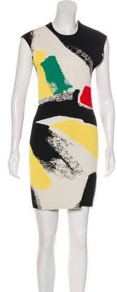Celine Abstract Print Dress