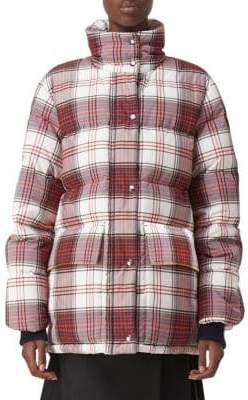 Burberry Selsey Check Puffer Jacket