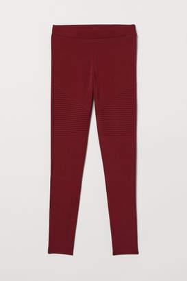 H&M Jersey Biker Leggings - Red