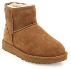 UGG Classic Heritage Mini II Suede and Sheepskin Boots