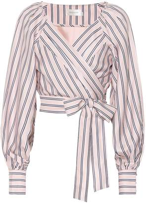 Zimmermann Radiate silk-blend wrap blouse