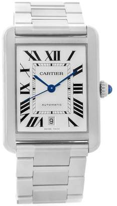 Cartier Tank Solo W5200028 Stainless Steel Automatic 31mm Mens Watch
