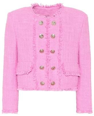 MSGM Cropped tweed jacket