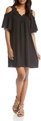 Karen Kane Crochet Neck Cold Shoulder Dress - 100% Exclusive $138 thestylecure.com