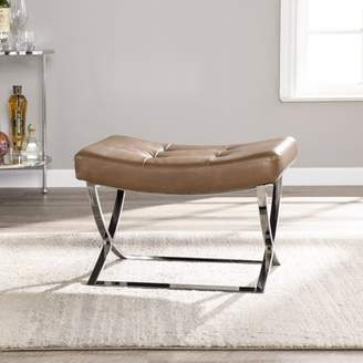 Southern Enterprises Cartii Tufted Stool, Contemporary style, Caramel