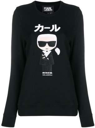 Karl Lagerfeld Paris Ikonik Japan embroidered sweatshirt