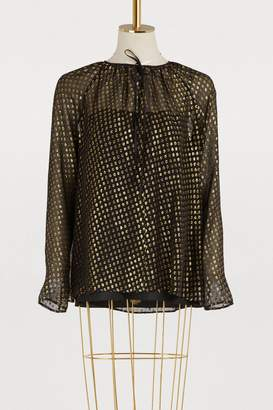 RED Valentino Silk lame blouse