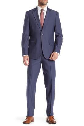 Nautica Tick Weave Two Button Notch Lapel Suit