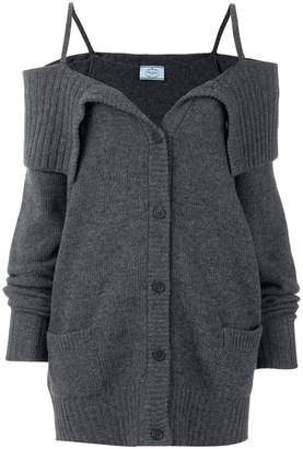 Prada off-the-shoulder cardigan