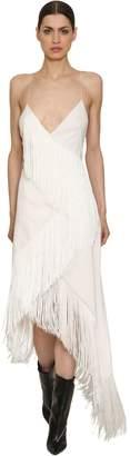 Givenchy Wool Crepe Fringed Dress