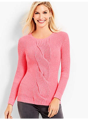 Talbots Cable Twist Sweater-Marled