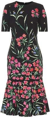 Carolina Herrera Floral stretch-cotton midi dress