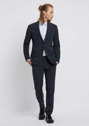 Emporio Armani Suit In Stretch Cool Wool With Single-Breasted Blazer