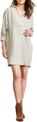Maternal America Popover Maternity Shirtdress
