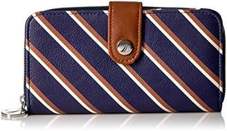 Nautica Banyan Rfid Tab Zip Around Clutch Wallet Wallet