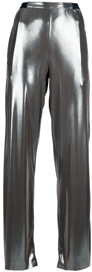 metallic trouser