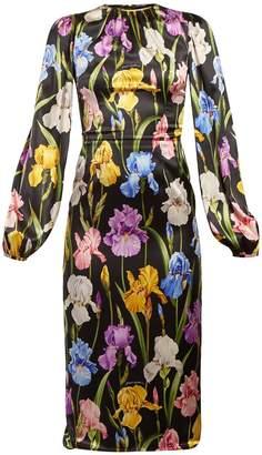 Dolce & Gabbana Iris-print midi dress
