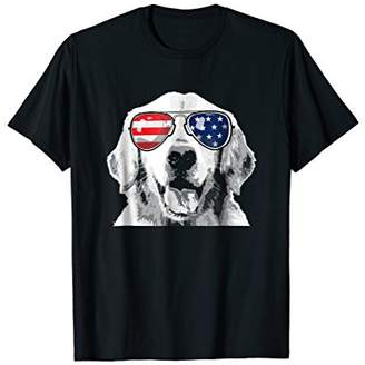 Golden Retriever Patriotic Dog T-Shirt 4th of july
