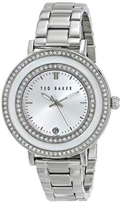 "Ted Baker Women's TE4106""Vintage Glam"" Stainless Steel Rhinestone-Accented Watch"