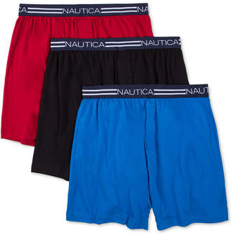 Nautica Men's 3-Pk. Cotton Knit Boxers