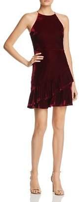Aqua Velvet Flounce Dress - 100% Exclusive