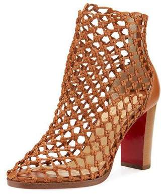 Christian Louboutin Porligatica Caged Red Sole Bootie