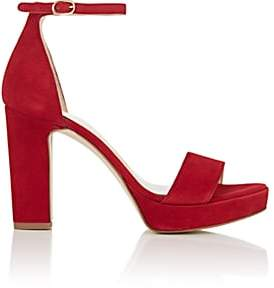 FiveSeventyFive Women's Suede Ankle-Strap Platform Sandals - Red