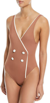 Solid And Striped The Juliette Faux-Wrap One-Piece Swimsuit