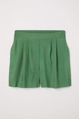 H&M Wide-cut Shorts - Green