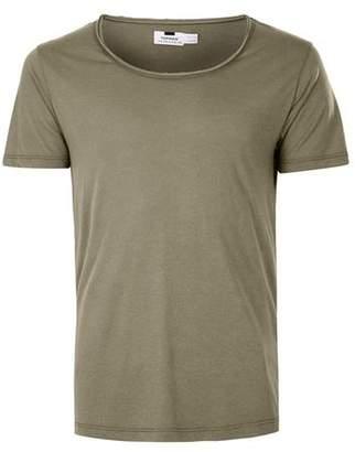 Topman Mens Green Khaki Scoop Neck T-Shirt