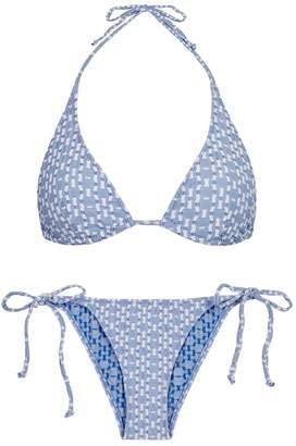 Lisa Marie Fernandez Pamela Light Blue Seersucker Bikini