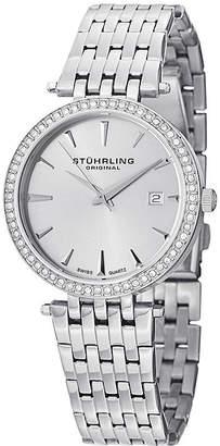 Stuhrling Original Sthrling Original Womens Crystal-Accent Stainless Steel Bracelet Watch 6549.02