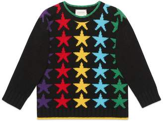Gucci Children's star wool sweater