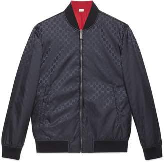 Gucci Reversible GG nylon bomber jacket