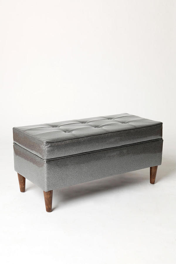 Jet Set Storage Bench - Metallics