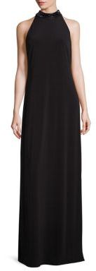 Laundry by Shelli Segal Embellished Jersey Halter Gown $295 thestylecure.com