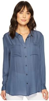 Pendleton Long Sleeve Silk Button Up Women's Long Sleeve Button Up