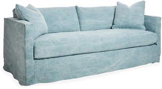 One Kings Lane Shaw Slipcover Sofa - Chambray Linen