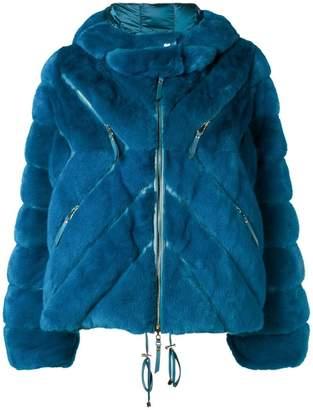 Liska short hooded coat