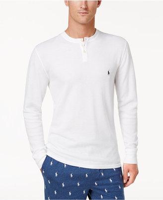 Polo Ralph Lauren Men's Lightweight Waffle-Knit Pajama Shirt $45 thestylecure.com